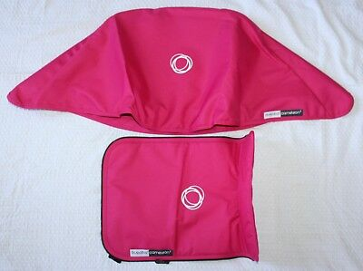 Bugaboo Cameleon 2 Piece Canvas Tailored Sun Canopy & Seat PINK NEW FBB
