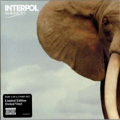 """2 x INTERPOL - Mammoth Part 1 + Part 2 (Vinyl Single 7"""") Our Love To Admire"""