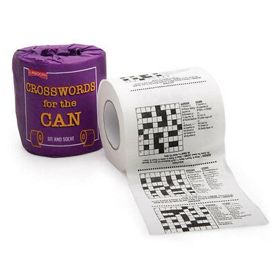 Crosswords Puzzle Toilet Roll Novelty Bathroom Loo Paper Tissue Stocking Filler