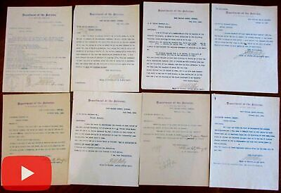 Montana 1895 Native Americans U.S. Indian Service Fort letters signed x 8