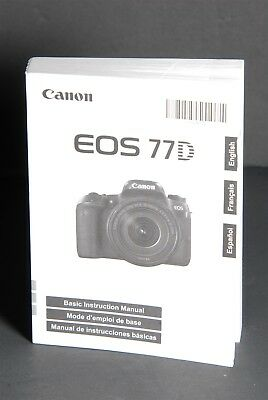 Canon EOS 77D Camera Instruction Book / Manual / User Guide