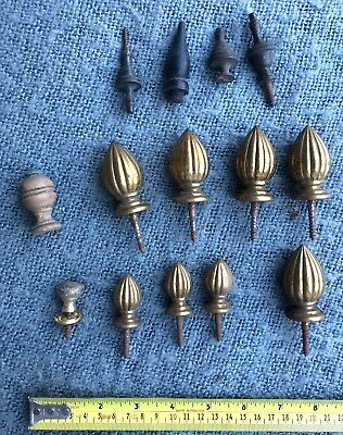 Rare Original Antique Collection of Brass & Wooden Finals C1890