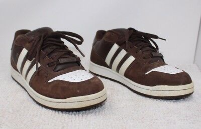 quality design b1d74 7fe65 ... promo code 1a5d6 ADIDAS COMPTOWN ST SNEAKERS Skate Shoes MENS 11 Brown  White EUC (b87 ...