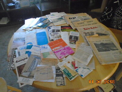 1970 Papers from Samoa all The islands tickets, brochures, postcards, Figi,Hawai