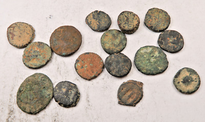 (15) Ancient Roman Coin Lot // Uncleaned // 15 Coins (ACT31)