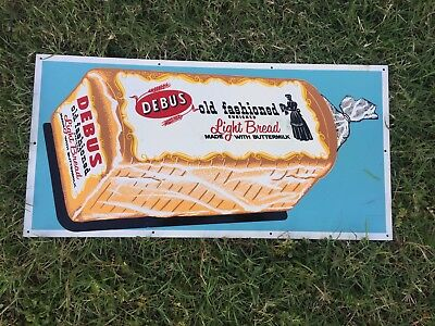 Debus Old Fashioned Metal Bread Store Sign