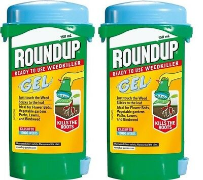 2 X Roundup Gel Ready To Use Weed Killer 150Ml