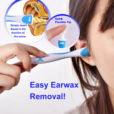 Ear Cleaner Earpick Swab Earwax Removal Clean Soft Spiral Remover Prevent Pick