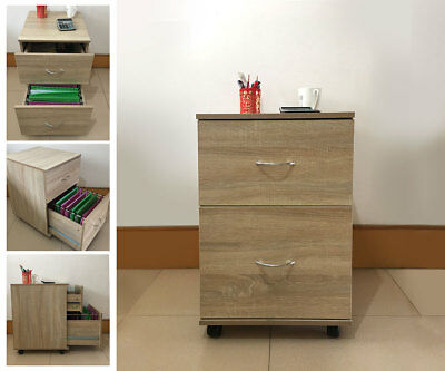 Filing Drawers Pedestal Mobile Office Side Cabinet Storage+10 Suspension files