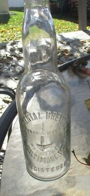 Monumental Brewing Co. Baltimore Md Beer Bottle W/ Embossed Monument