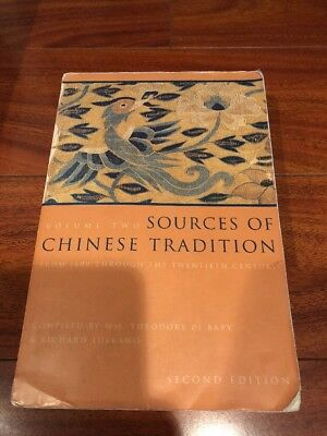 Sources Of Chinese Tradition Vol2 Textbook