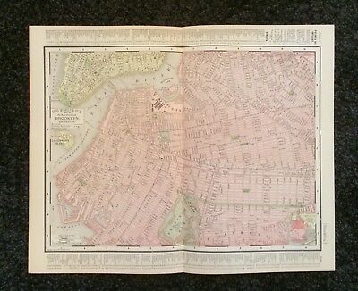 Vintage Original Map 1897 Brooklyn, Eaton & Mains, Rand McNally