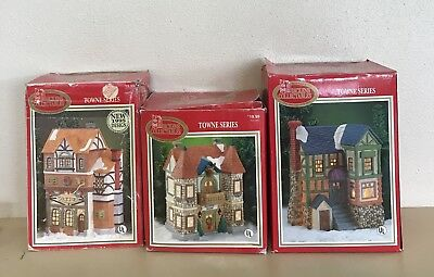 Vintage Dickens Collectibles Towne Series LARGE Villages Lot Of 3 LOT B