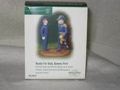 """Dept 56 Dickens Village Series """"READY FOR DUTY, QUEENS PORT"""" #56.58579   NEW"""
