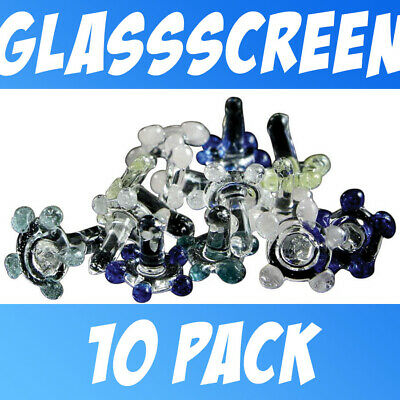 10 Pack of Assorted Color Glass Screens Jax Daisies Free Shipping from USA