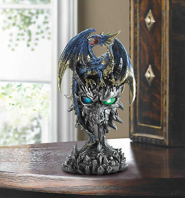 Blue Dragon Warrior Light Up Statue With Quantity Discounts