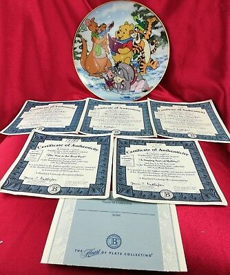 """Disney """"A Singing Sort of Holiday"""" 1st Issue Plate In The 100 Acre Wood Holiday"""