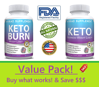 🔥 KETO Diet Pills - Bundle Weight Loss Fat Burner Supplement for Women & Men