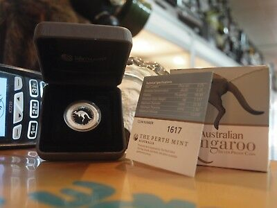 The Perth Mint - Australian Kangaroo 1/4 Oz Silver Proof Coin 2017 With Coa !