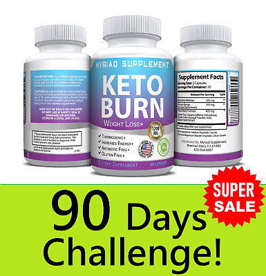 Keto BURN Diet Pills 1200 MG Weight Loss Fat Burner Supplement for Women & Men