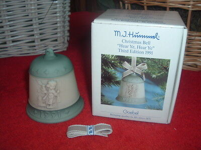 HUMMEL  1991 Xmas Bell, Hear Ye!, #777, TMK-7, NEW, Mint, w/Original Box