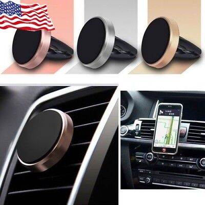 Universal Magnetic Mobile Phone Holder Car Air Vent Mount Stand Holder For GPS