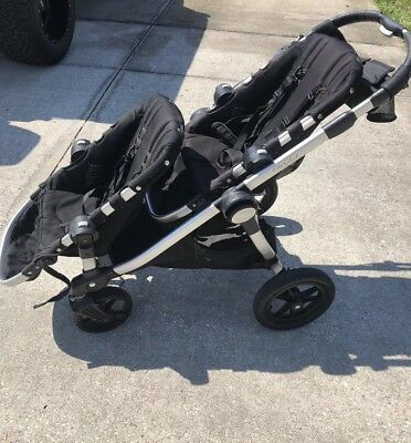 Baby Jogger City Select Twin Double Stroller W Second Seat Onyx
