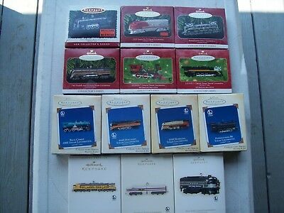 Hallmark Lionel Train Locomotive Lot of 13  1996 #1 Thru 2008 #13