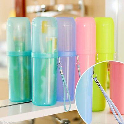 Hot Travel Toothbrush Case Cover Toothpaste Holder Storage Orangizer Box Cup JDU