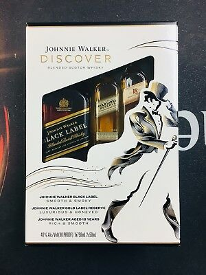 Collectible Johnnie Walker Black label Discover 750ml LIMITED EDITION