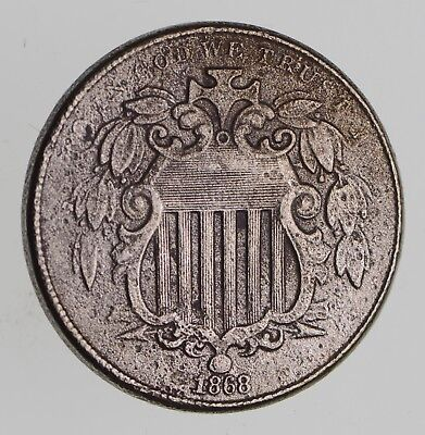 First US Nickel - 1868 - Shield Nickel - US Type Coin - Over 100 Years Old! *151