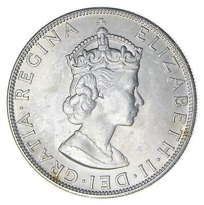Roughly Size of Silver Dollar - 1964 Bermuda 1 Crown Silver Coin 22.7g *826
