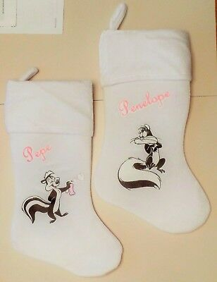 Pepe Le Pew & Penelope Scent Of Love Christmas Stocking Set Looney Tunes Skunk