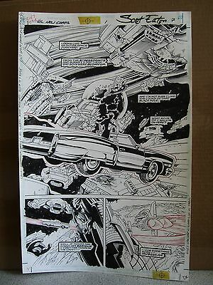 Green Lantern The New Corps #1 Page #7 Space Cadillac-1999 Original Art-Eaton