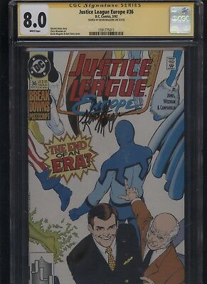 Justice League Europe #36 CGC 8.0 SS Kevin Maguire 1992
