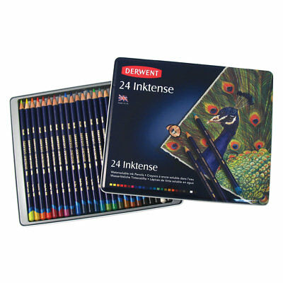 DERWENT INKTENSE - INK PENCILS Tins of 12, 24, 36, 72 - Vibrant & Intense