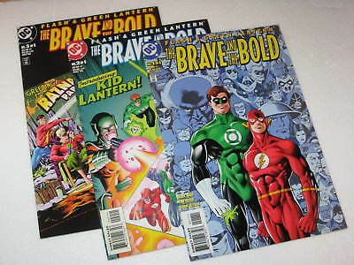 Brave & The Bold  1-3  Flash & Green Lantern Unread High Grade  DC Comics