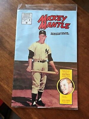 Mickey Mantle Comic book Sealed with Cards-Magnum Comics-2nd in Series-Nov 1992