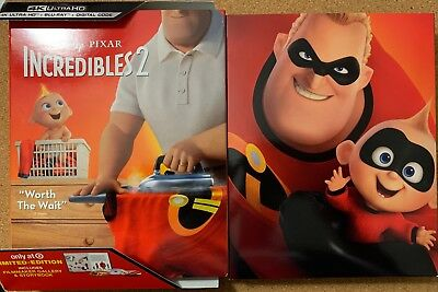 Disney Incredibles 2 4K Ultra Hd Blu Ray Target Exclusive Digipack + Slipcover