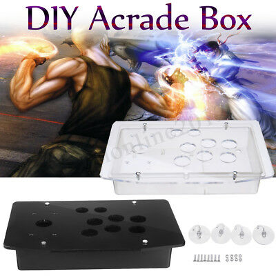 DIY Replacement Acrylic Panel Case Set Handle Arcade Joystick Game Controller