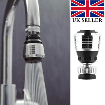 Kitchen Tap Aerator 360° Rotate Faucet Swivel End Diffuser Adapter Filter UK