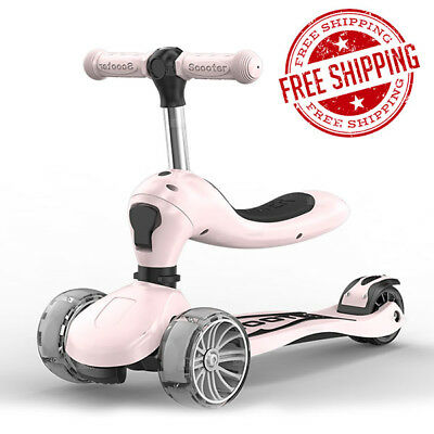 New 3in1 Foldable Children Scooter Infant Baby Walker 1-8 Years Old Kids Gift