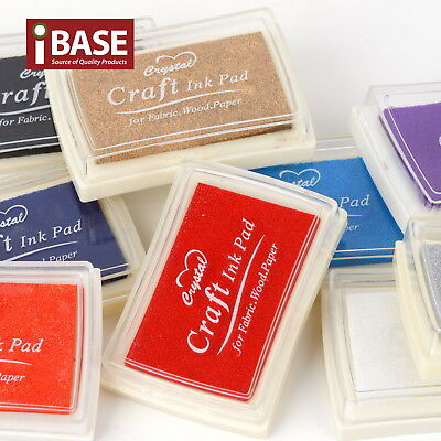 Craft Ink Pads Stamp Pad Inkpad Scrapbooking Oil Base Sponge Album Card DIY