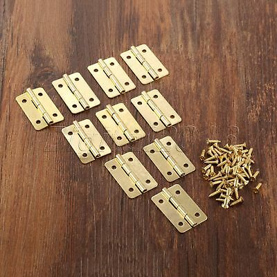 30*21mm Gold Color Door Butt Hinge Decorative Jewelry Gift Box Dollhouse Hinges