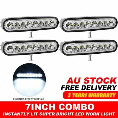 4X 7inch 80w LED Work Driving Light Bar CREE Spot Flood Combo OFFROAD 4WD Lamp