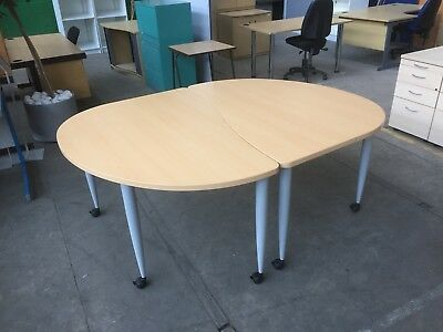 2 Piece Mobile Meeting Room Table, Office, Conference, More Tables In Stock