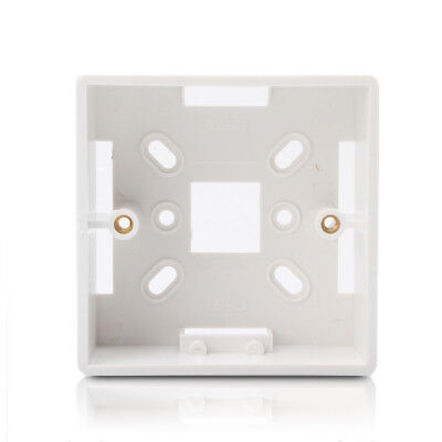 35mm Single 1 Gang Surface Mount Slim Pattress Back Box Wall Socket Light Switch