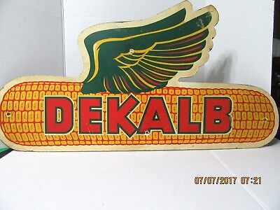 "Vintage Dekalb Seed Corn 32"" Sign"