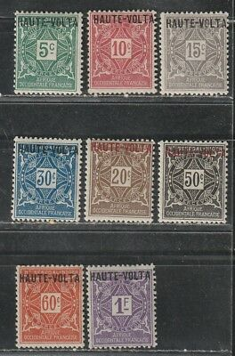 1920 French colony stamps, Burkina Faso postage due full set MH, SC J1-8