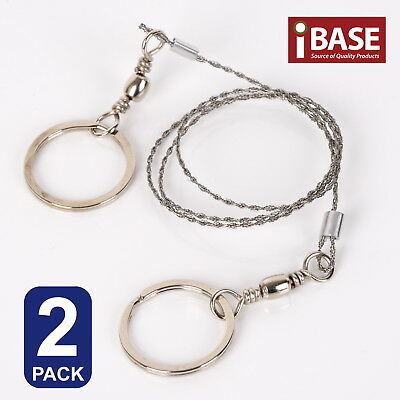 2x WIRE CAMPING SAW HIKING STAINLESS STEEL COMMANDO SURVIVAL EMERGENCY CUT ROPE